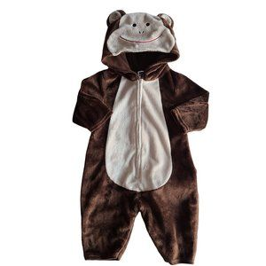 GAP Brown Bear Minky One Piece Outfit 3-6 mo